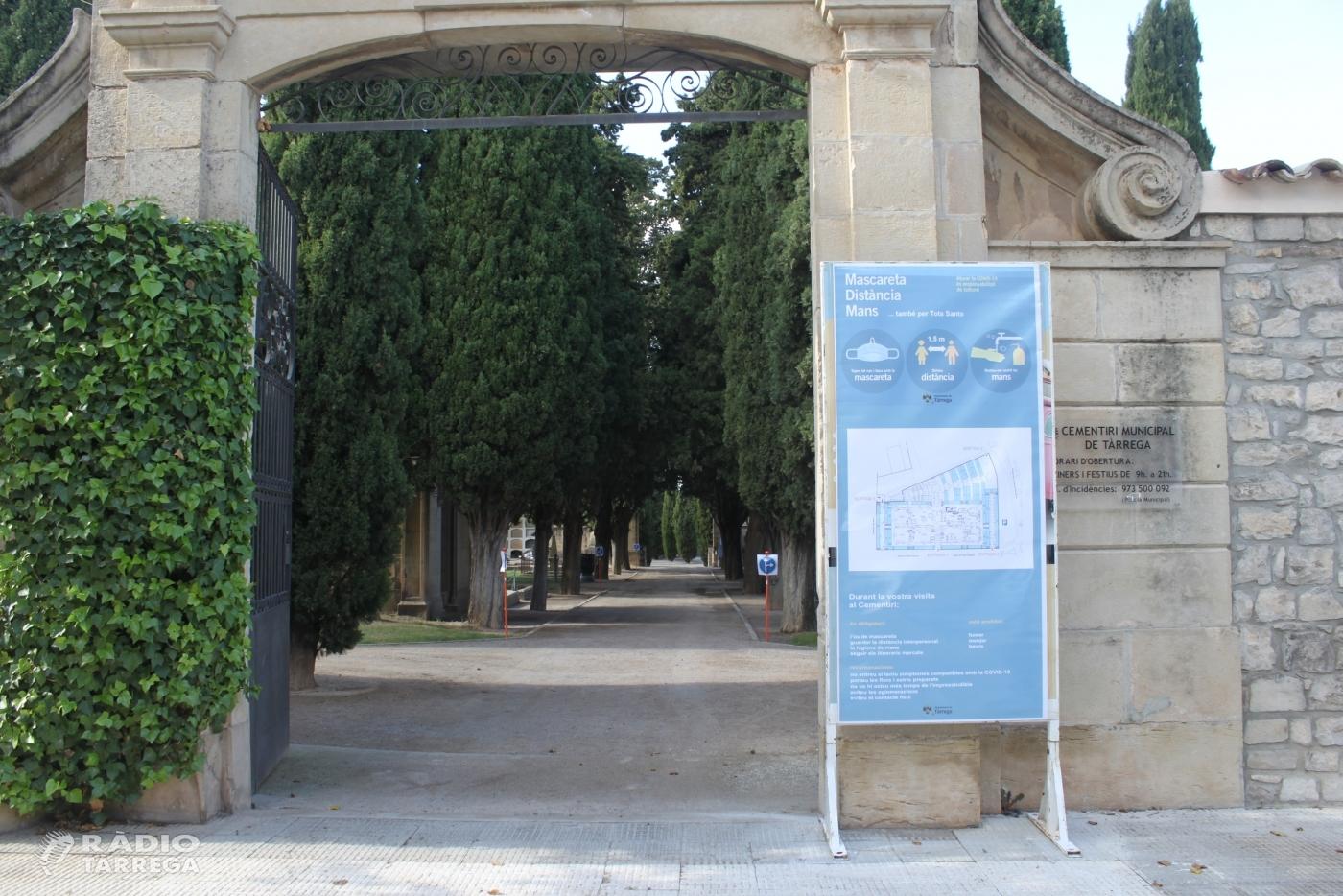 L'Ajuntament de Tàrrega senyalitza itineraris al cementiri per evitar aglomeracions amb motiu de la festivitat de Tots Sants