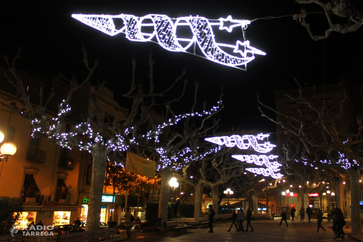 L'Ajuntament de Tàrrega anuncia que es farà càrrec de la instal·lació de l'enllumenat de Nadal dels carrers de la ciutat aquest any