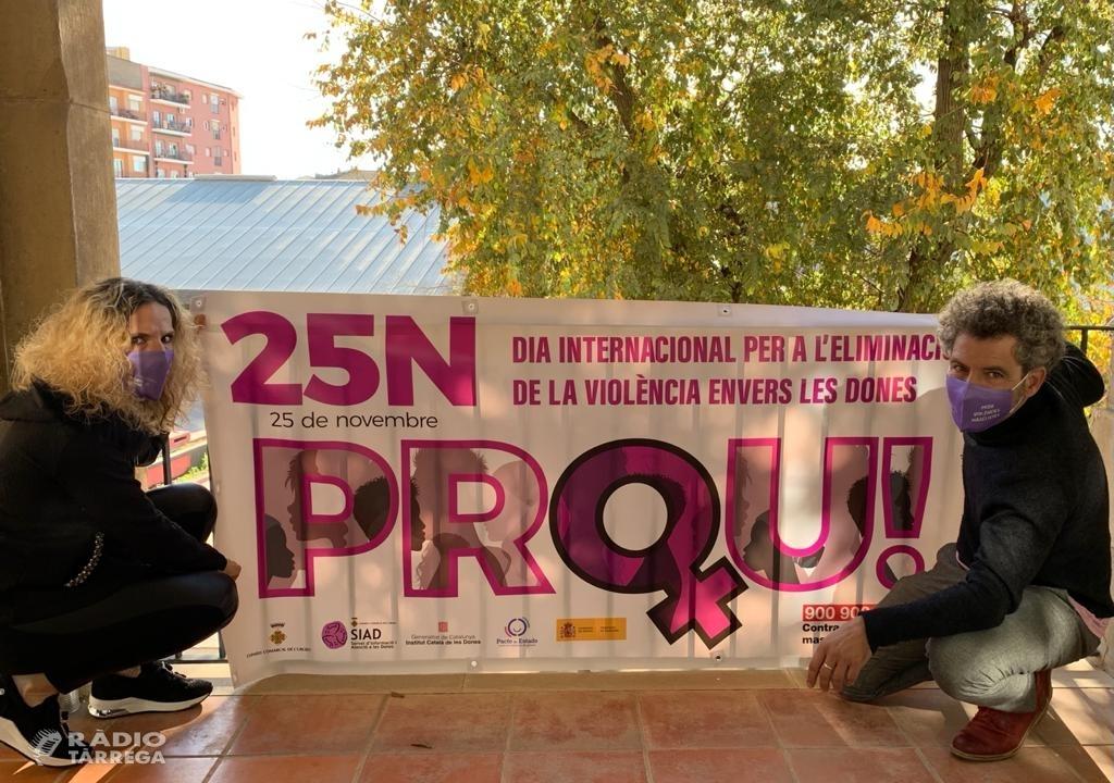 El Consell Comarcal de l'Urgell se suma als actes del Dia Internacional per a l'eliminació de la violència contra les dones