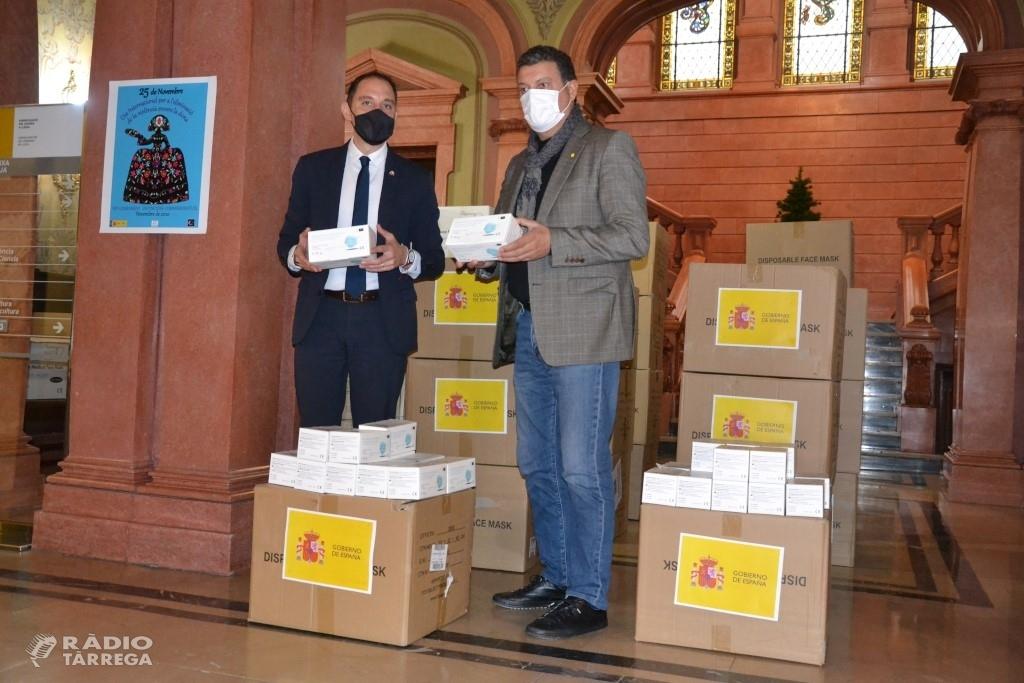 La Diputació repartirà 45.500 mascaretes entre consells comarcals i ajuntaments