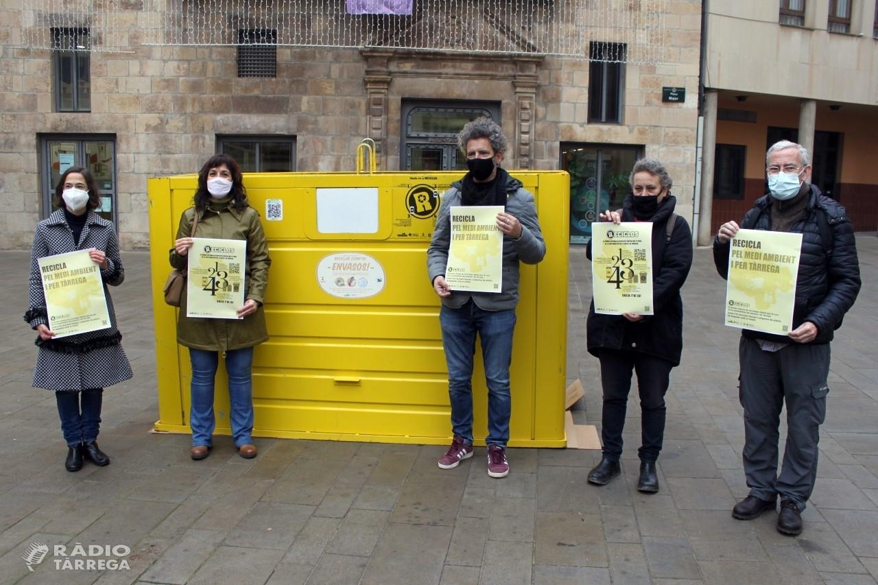 RECICLOS, el sistema de reciclatge amb recompensa d´Ecoembes, arriba a Tàrrega