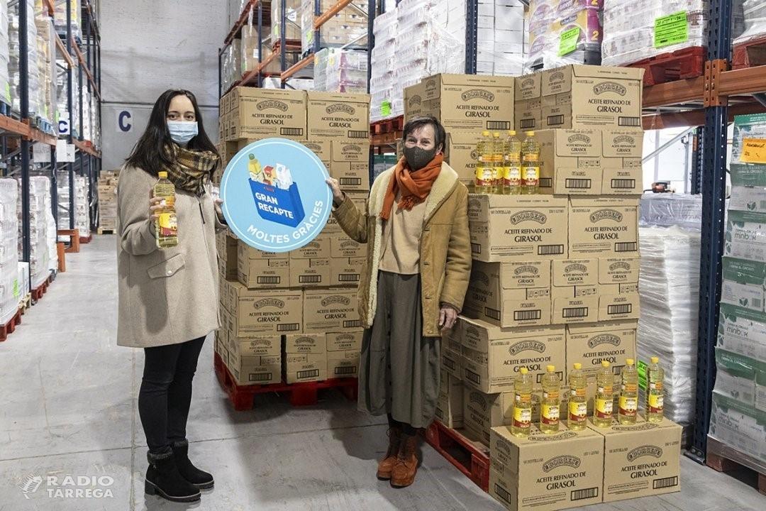 Borges International Group de Tàrrega col·labora amb el Banc dels Aliments donant 15.000 litres d'oli