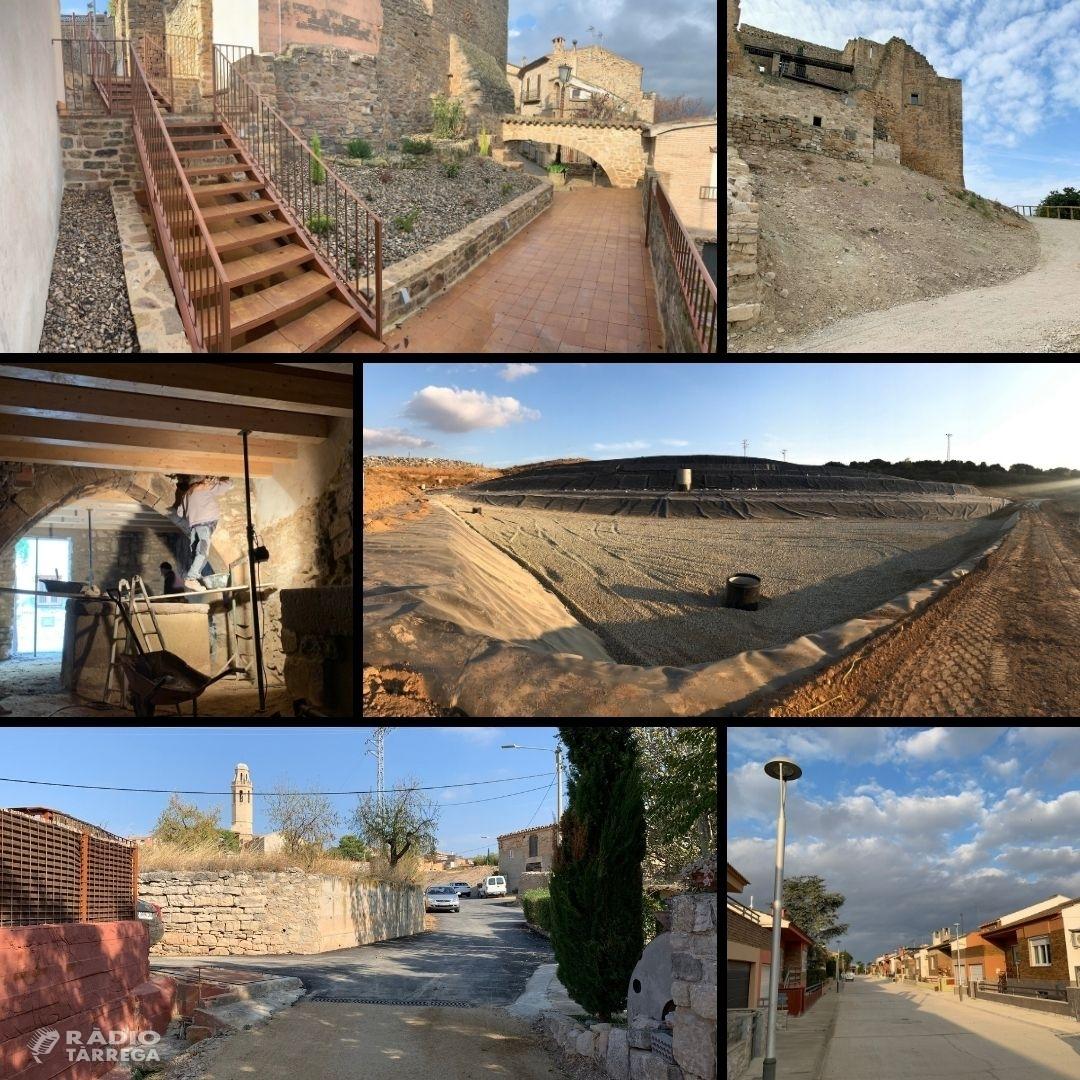 Els Serveis Tècnics del Consell Comarcal de l'Urgell col·laboren amb l'execució d'obres a diferents municipis de la comarca