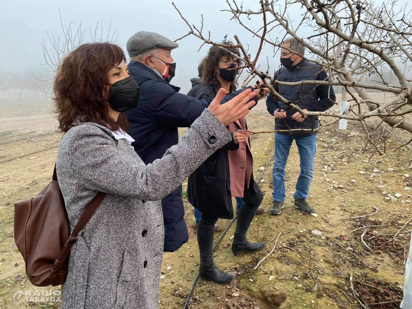La consellera d'Agricultura Teresa Jordà visita la finca Mas de Colom a Tàrrega propietat de Borges