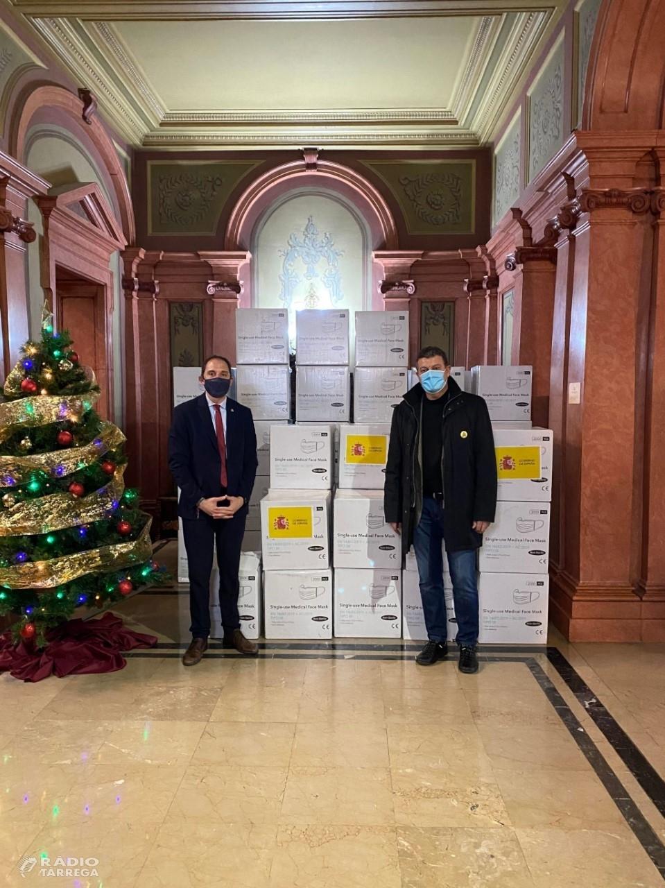 La Diputació repartirà 45.500 mascaretes quirúrgiques entre consells comarcals i ajuntaments de la demarcació de Lleida