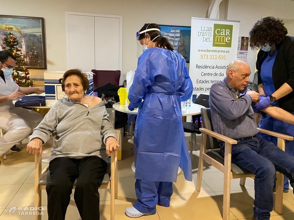 Arriba a vacuna contra la Covid-19 a les residències de gent gran de Tàrrega