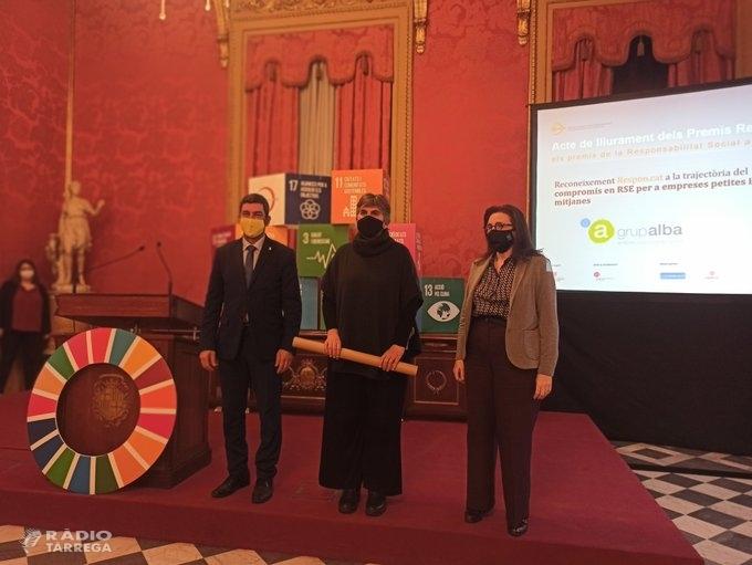 El Grup Alba de Tàrrega rep el premi Respon.cat per la seva Responsabilitat Social i Empresarial