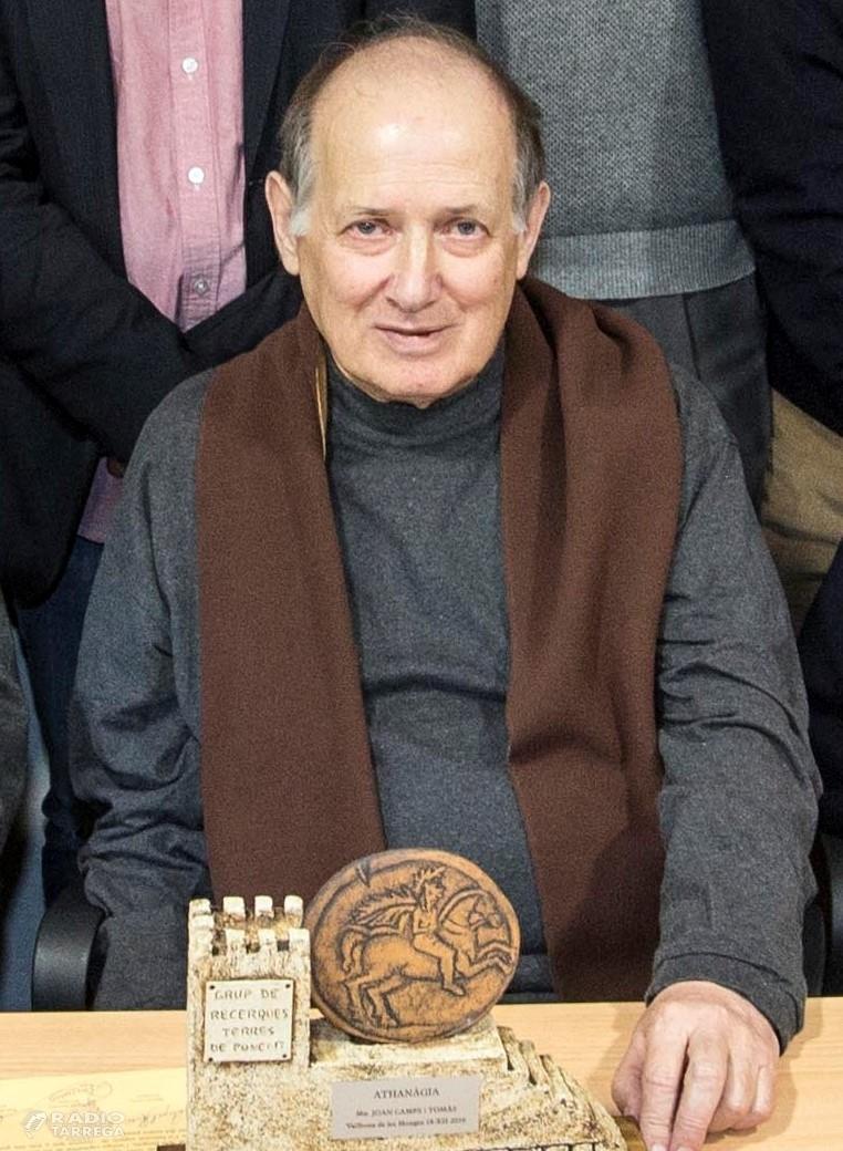 Mor mossèn Joan Camps, president d'honor del Grup de Recerques de Ponent
