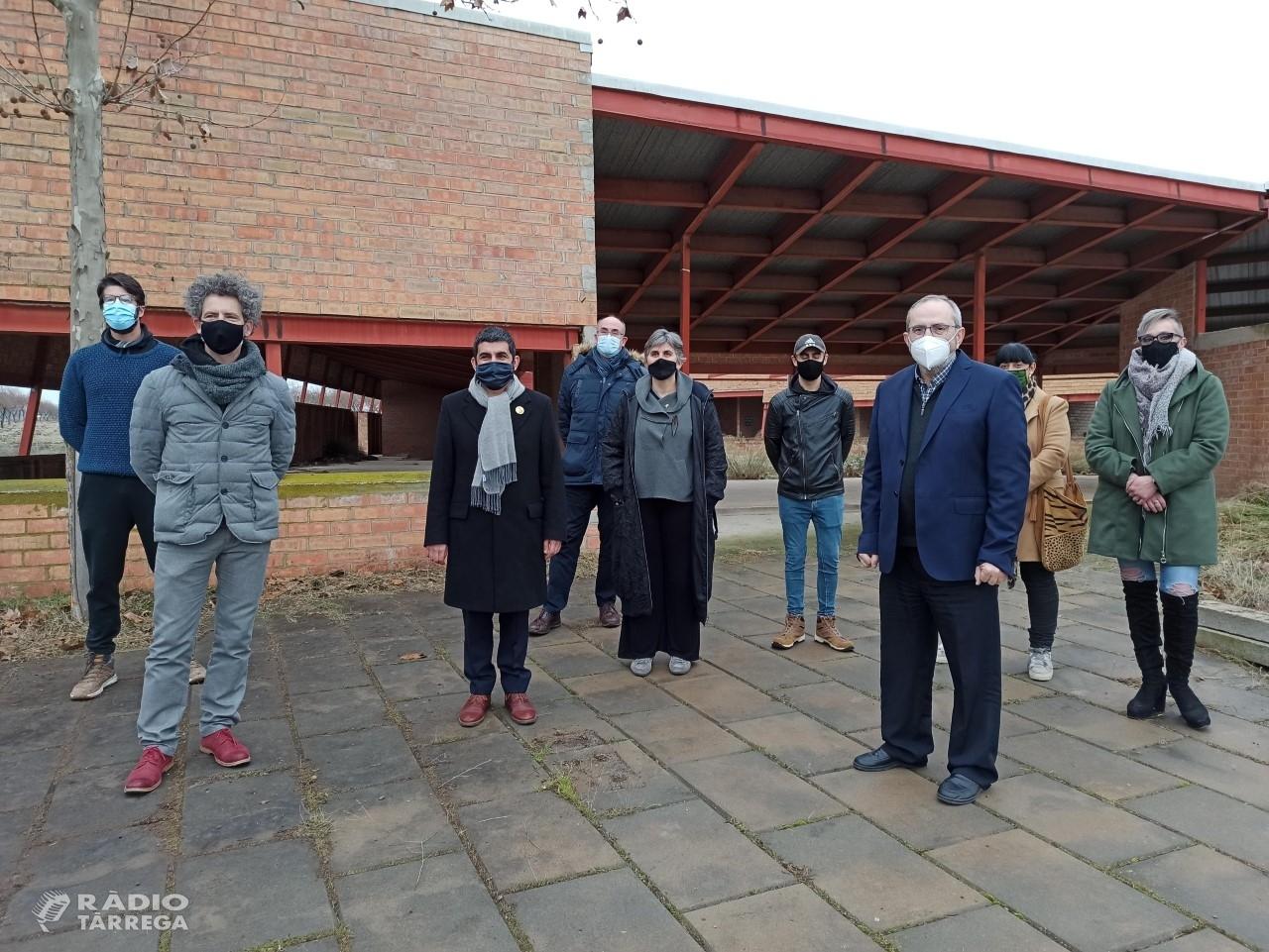 El Conseller Chakir El Homrani visita els terrenys del futur equipament residencial i de serveis comunitaris de Sant Martí de Riucorb que impulsarà el Grup Alba