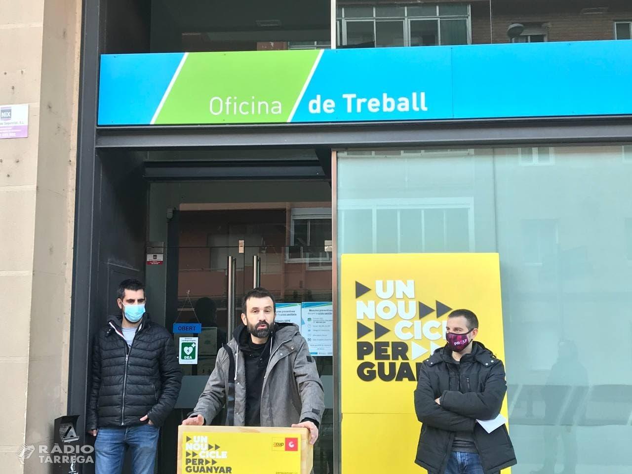 La CUP, des de Tàrrega, denuncia la precarietat laboral de les classes populars accentuada per la crisi econòmica, social i sanitaria de la COVID19