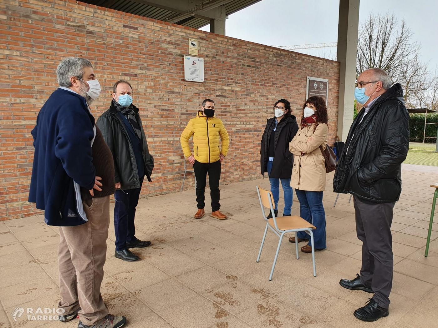 El conseller d'Educació Josep Bargalló visita l'institut Alfons Costafreda de Tàrrega