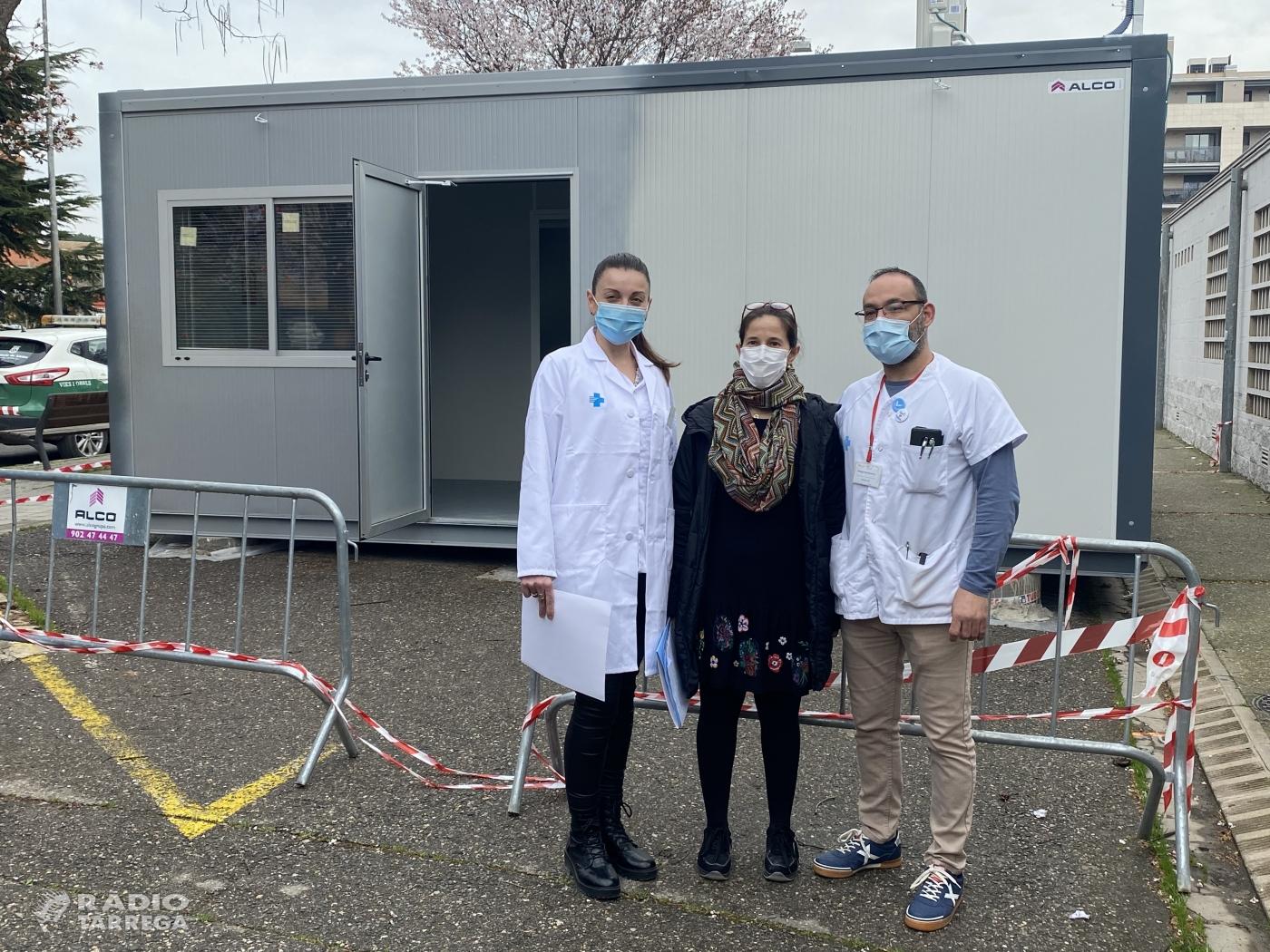 Salut comença a instal·lar a la Regió Sanitària Lleida els mòduls de suport als centres d'atenció primària per a l'activitat COVID