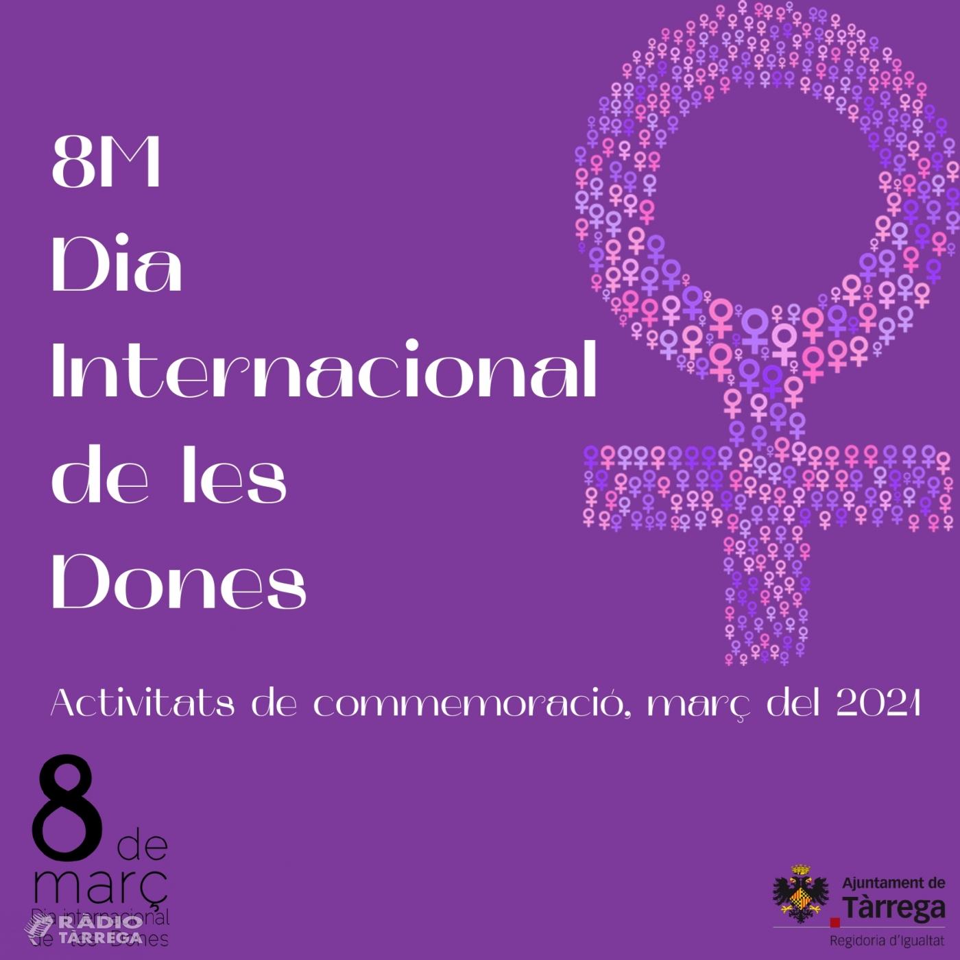 Tàrrega expressa el seu compromís amb el Dia Internacional de les Dones i divulga missatges en favor de la igualtat de gènere