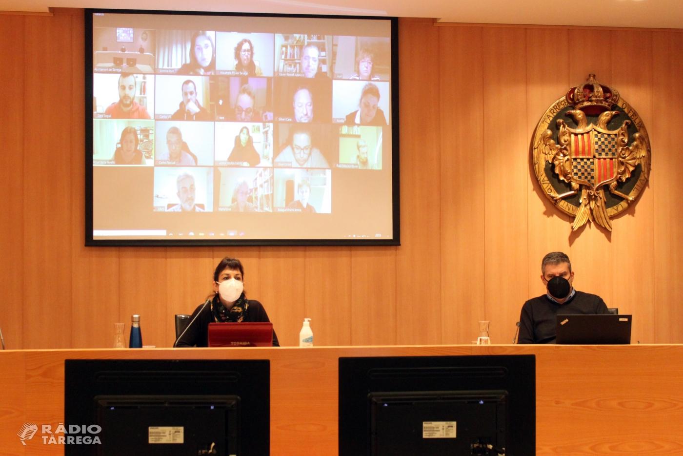 Tàrrega aprova un nou pressupost municipal de 17,8 milions d'euros que reforça l'atenció a les persones davant la crisi de la Covid-19