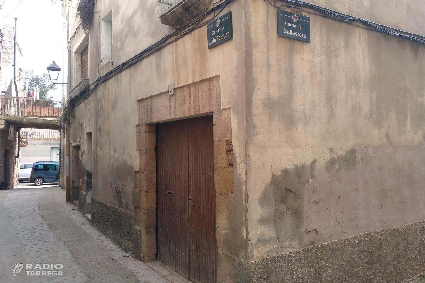 Tàrrega treu a subhasta una parcel·la per finançar l'adquisició d'un immoble que permetrà ampliar l'Arxiu Comarcal de l'Urgell