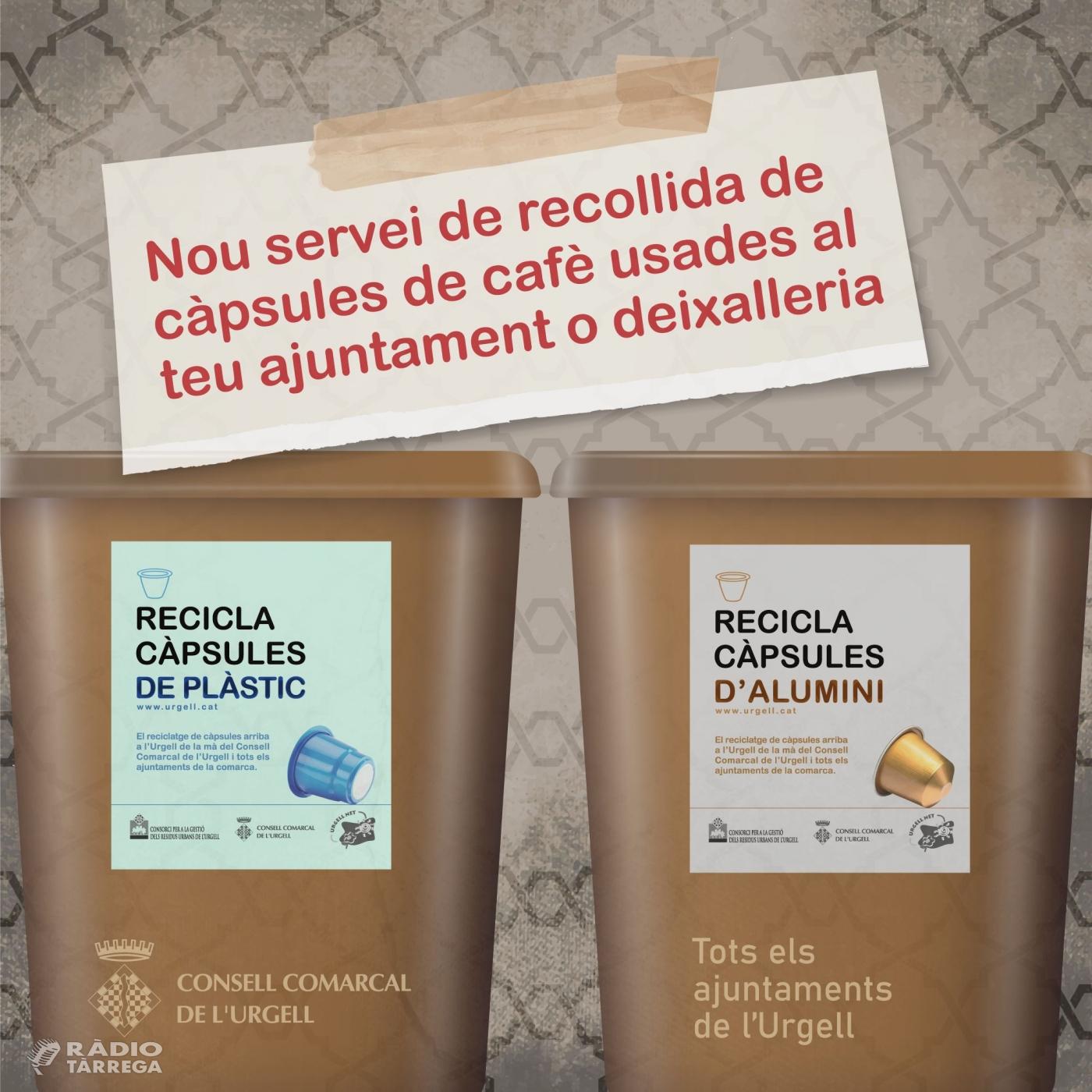 El Consell Comarcal de l'Urgell signa un conveni amb Nestlé amb l'objectiu de reciclar les càpsules de plàstic i d'alumini de cafè usades