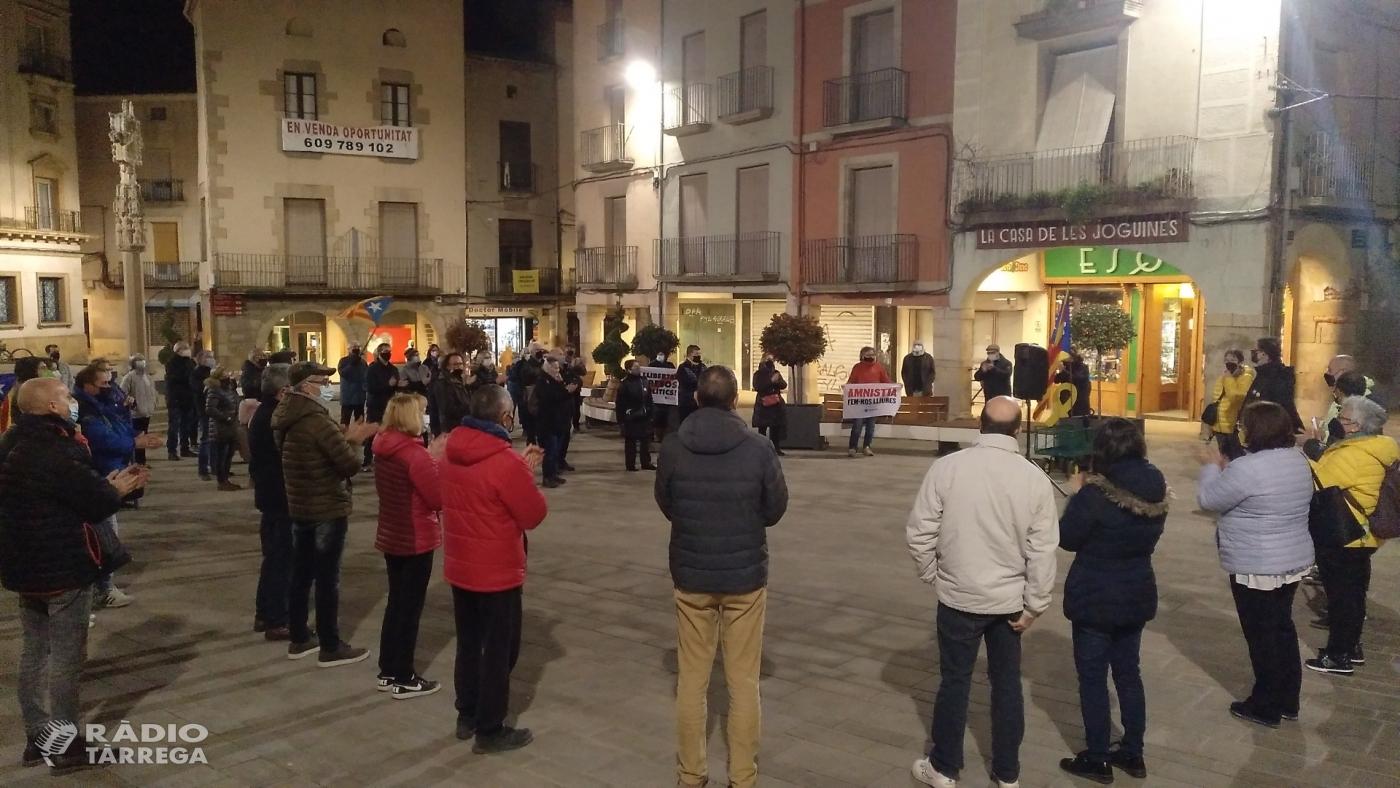 Concentració a Tàrrega solidària amb el presos independentistes catalans