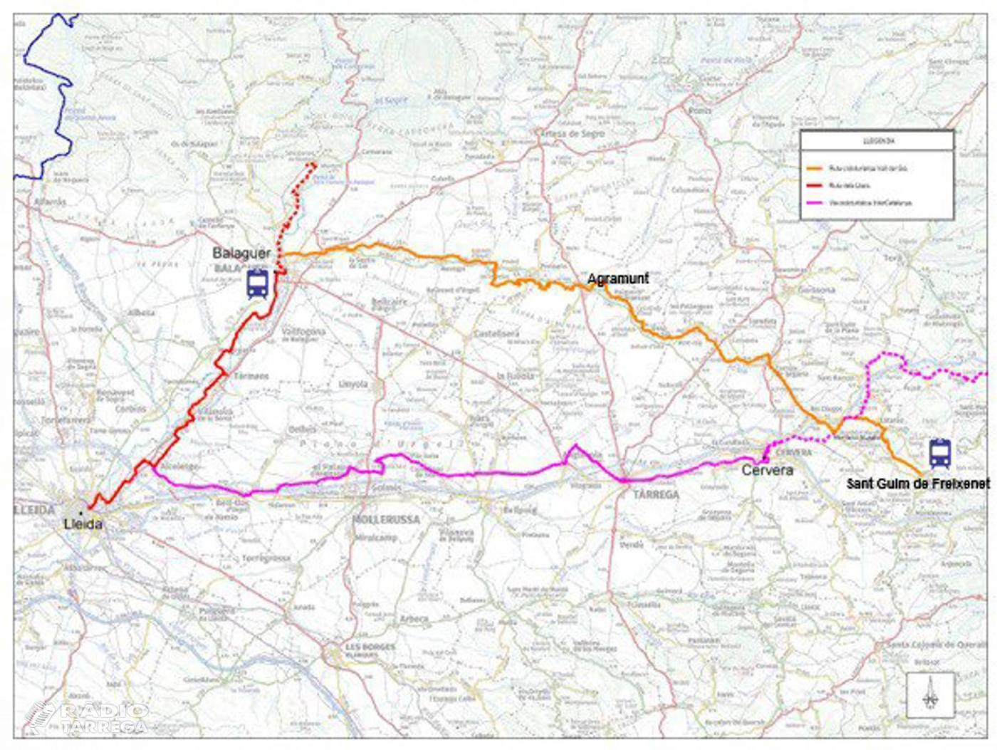 El Govern acorda amb el territori la definició de la ruta cicloturística de la Vall del Sió