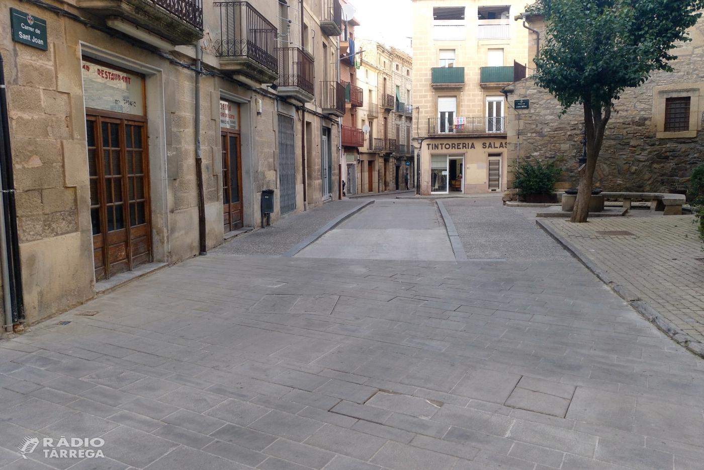 Tàrrega renovarà les lloses malmeses del paviment situat a la cruïlla dels carrers Urgell i Sant Joan a partir del dilluns 29 de març