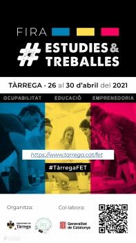L'Ajuntament de Tàrrega i el Pla Educatiu d'Entorn organitzen en format virtual la primera edició de la Fira Estudies & Treballes
