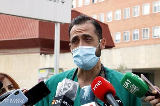L'Hospital Arnau de Vilanova de Lleida alerta que hi ha el doble de pacients covid a planta i el triple a l'UCI que en l'últim desconfinament
