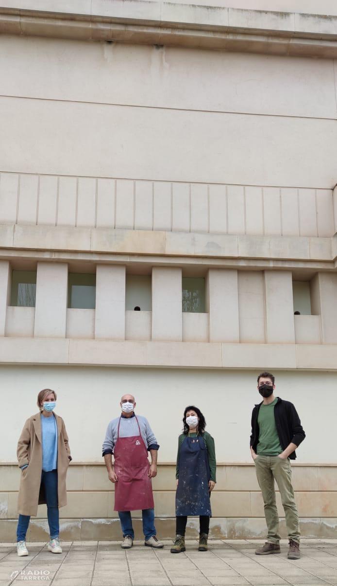 La façana de l'Escola d'Art i Disseny Ondara de Tàrrega serà escenari d'un projecte artístic de gran format