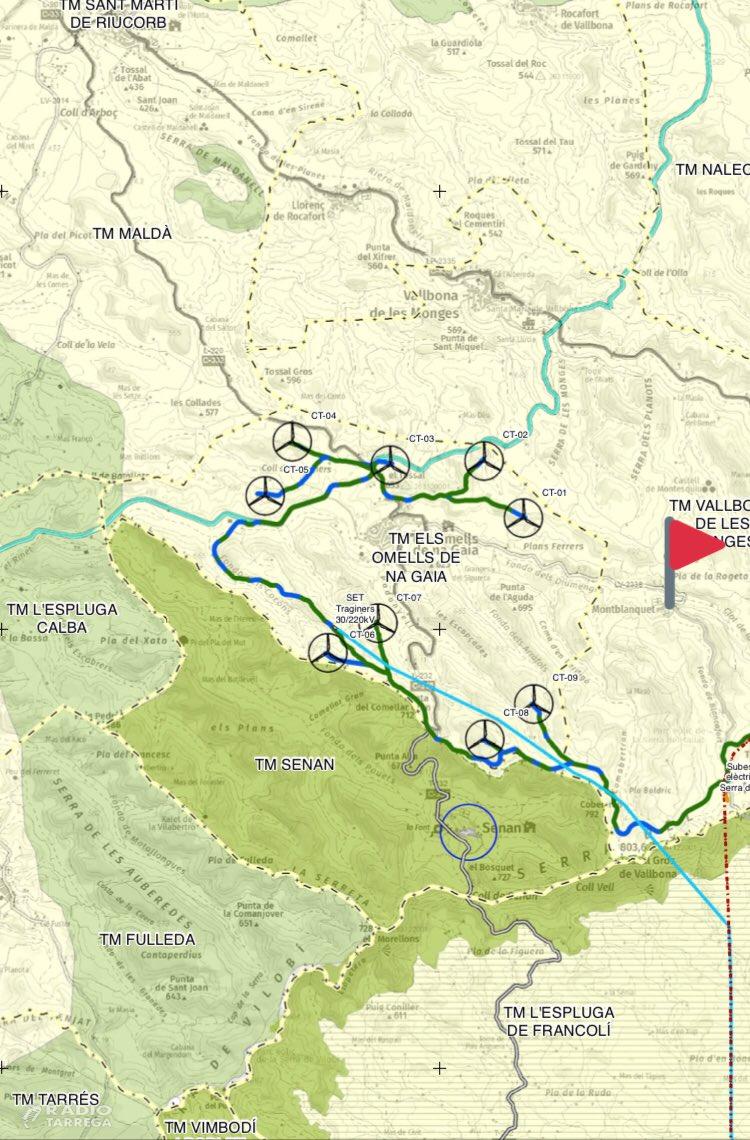 Es planteja un nou avantprojecte de parc eòlic a l'Urgell