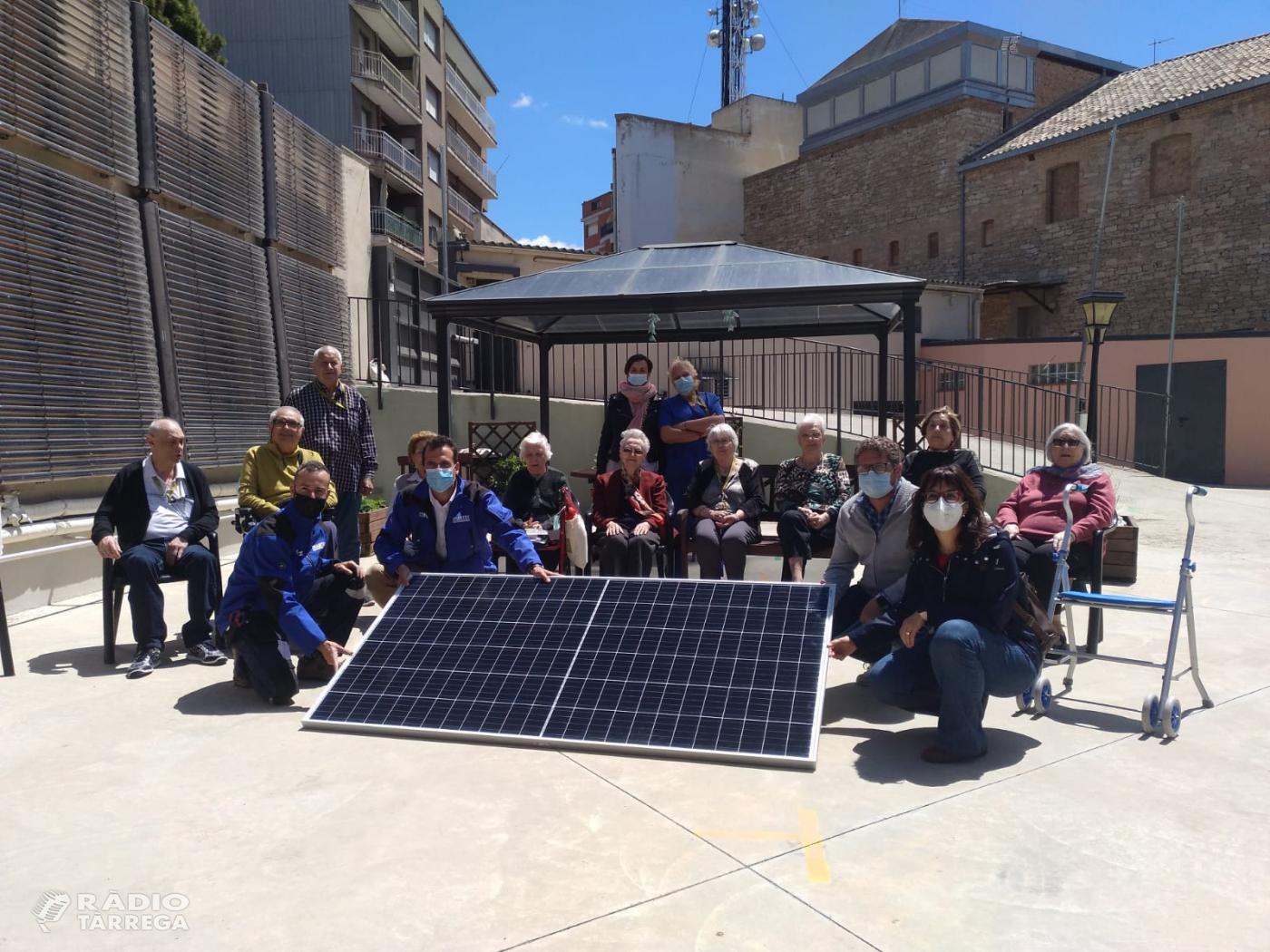 La Llar d'Avis el Carme de Tàrrega instal·larà panells solars fotovoltaics per abastir més de la meitat del consum elèctric que tenen