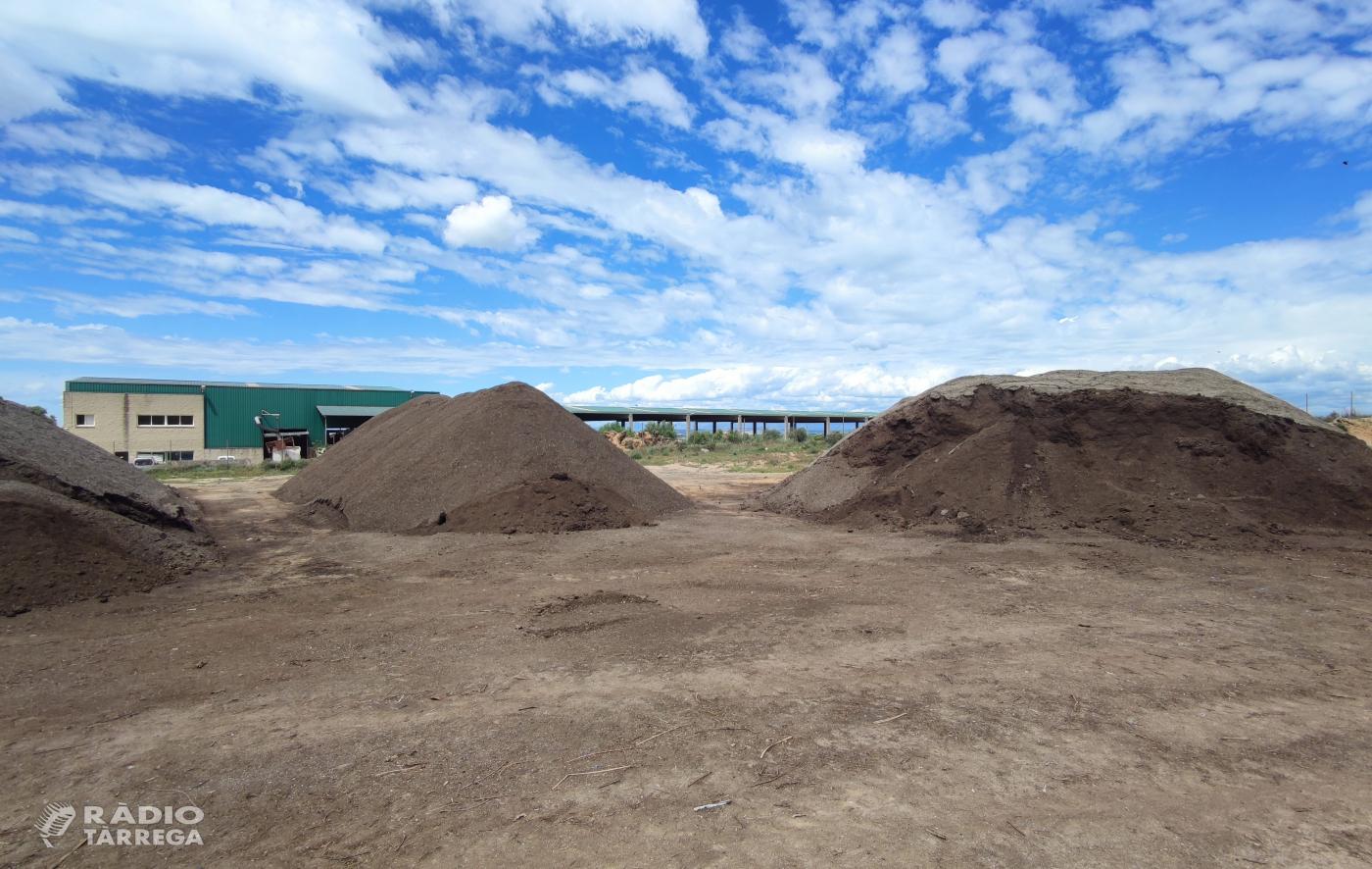 La planta de compostatge de l'Urgell va vendre 852 tones de compost l'any passat