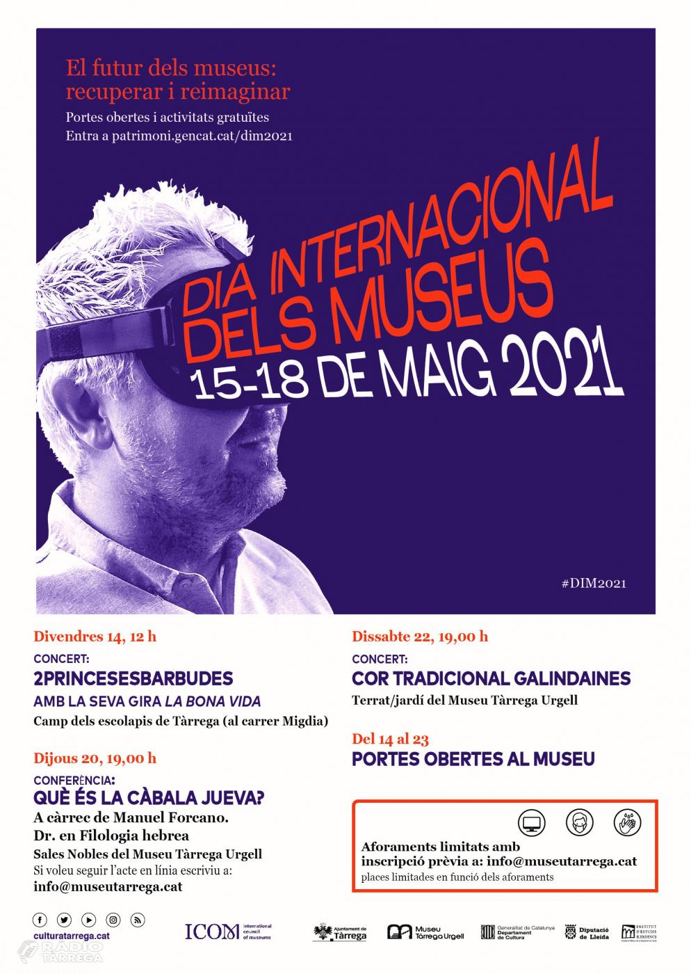 El museu de Tàrrega està celebrant el Dia Internacional dels Museus amb un seguit d'actes gratuïts