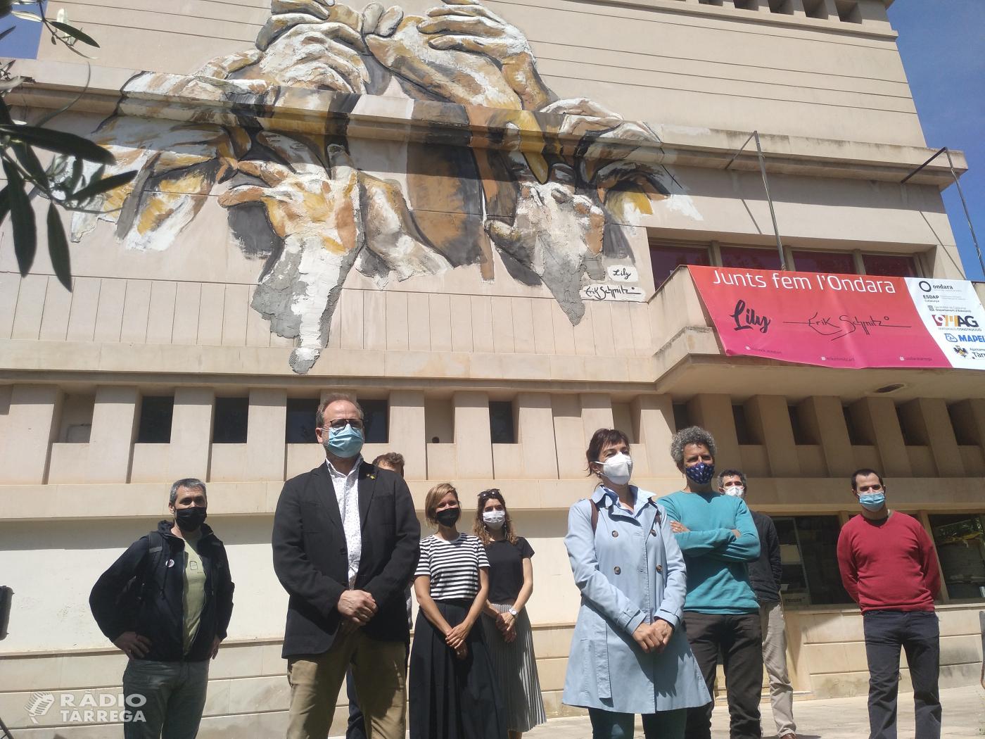 """L'EASD Ondara de Tàrrega inaugura el mural """"Junts fem l'Ondara"""""""