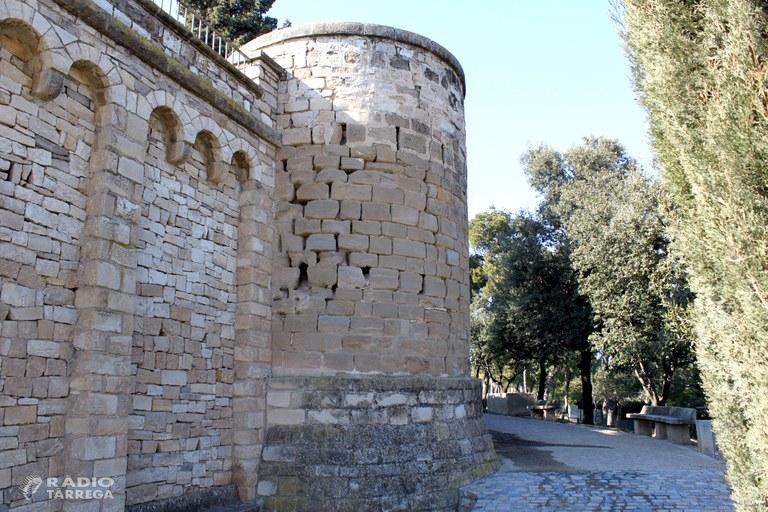 Comencen les obres de restauració dels torricons del Parc de Sant Eloi de Tàrrega