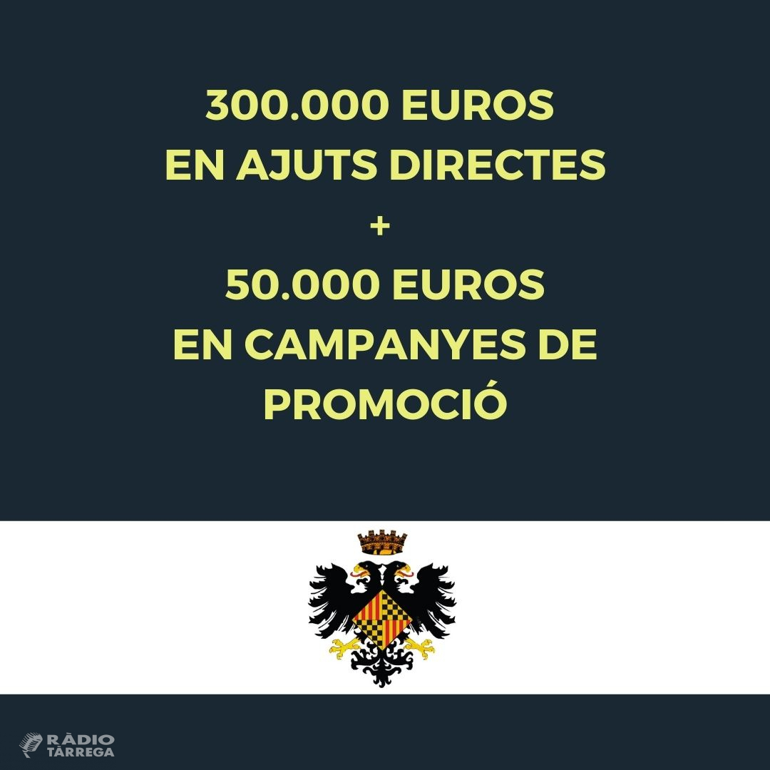 L'Ajuntament de Tàrrega destinarà 350.000 euros per ajudar els comerços locals afectats per la crisi de la Covid-19