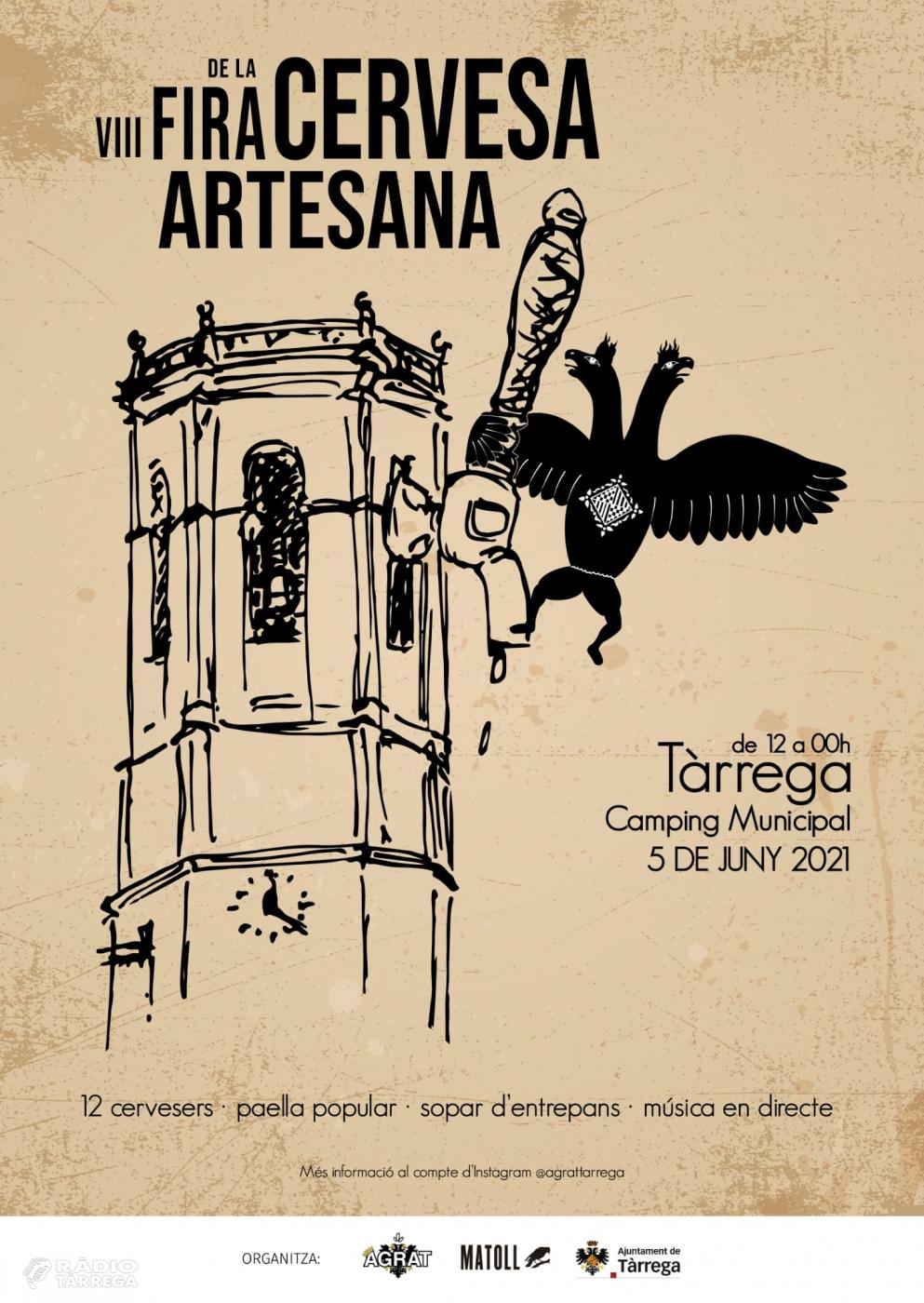 Tàrrega celebra el dissabte 5 de juny la Fira de la Cervesa Artesana