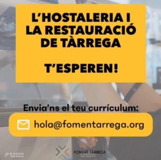 Foment Tàrrega crea una borsa de treball específica donar servei als sectors de l'hostaleria i restauració
