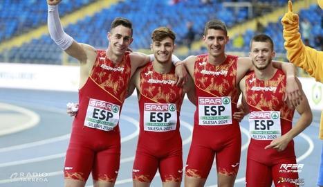 L'Atleta targarí Arnau Monné segon al 4x100 de l'Europeu