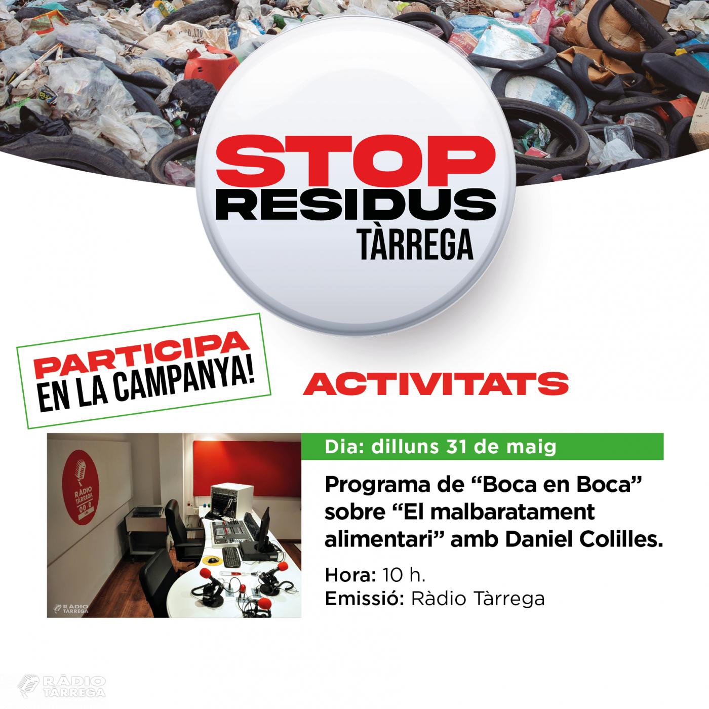 Ràdio Tàrrega s'uneix a la campanya 'Stop Residus' parlant del malbaratament alimentari a la secció de cuina