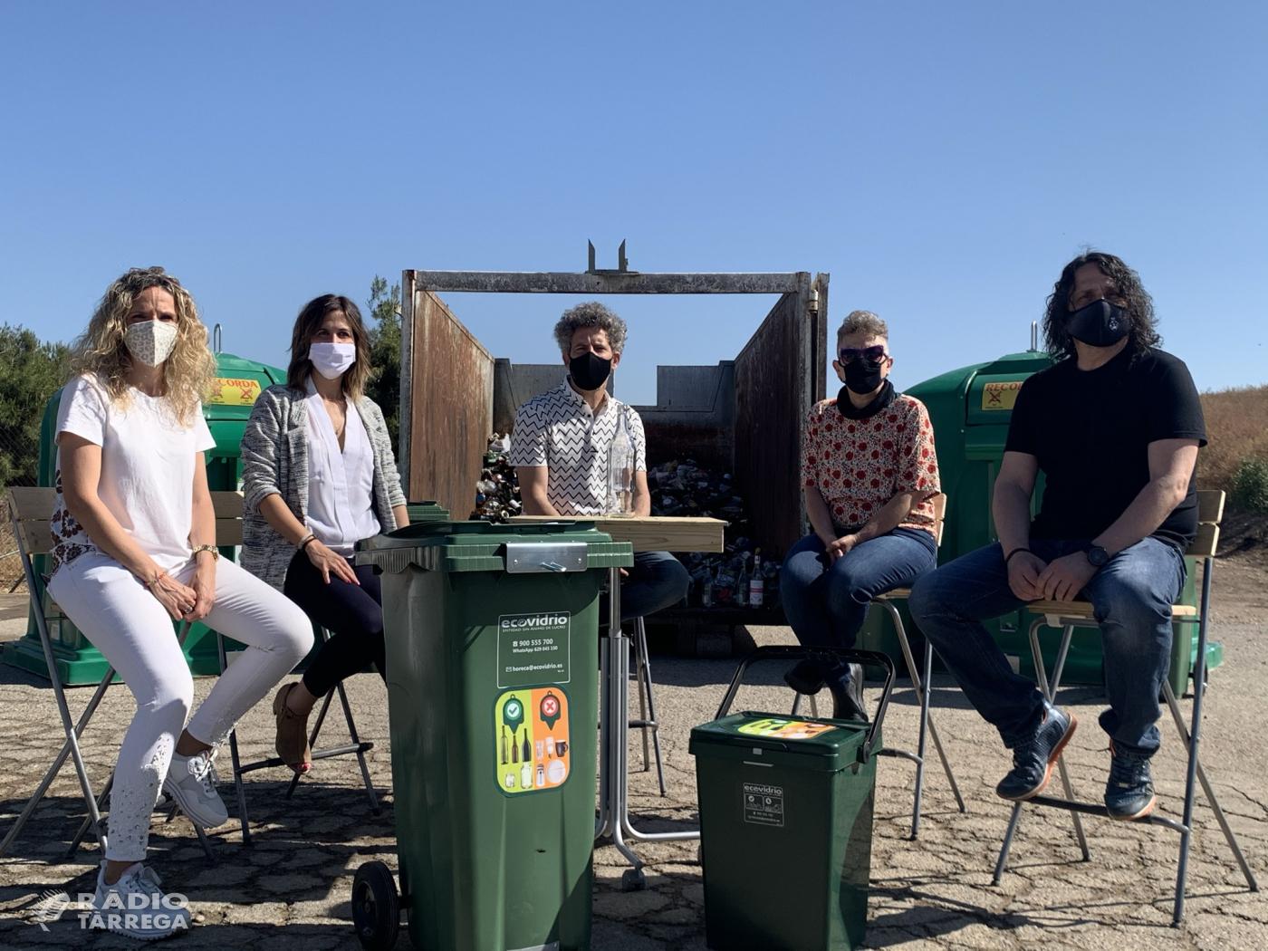 L'Urgell activa una campanya per promoure el  reciclatge d'envasos de vidre a l'hostaleria
