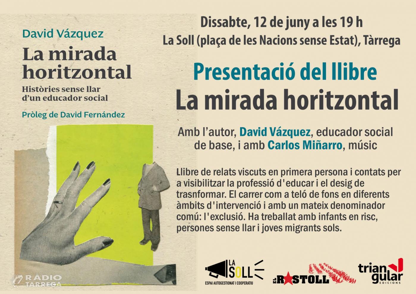 David Vázquez presenta a la Soll el seu llibre 'Mirada Hotizontal'