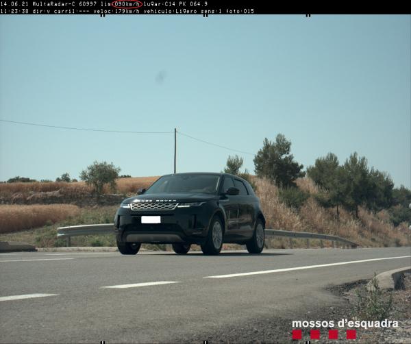Els Mossos d'Esquadra denuncien penalment un conductor que circulava a 179 km/h per la C-14 a l'Urgell