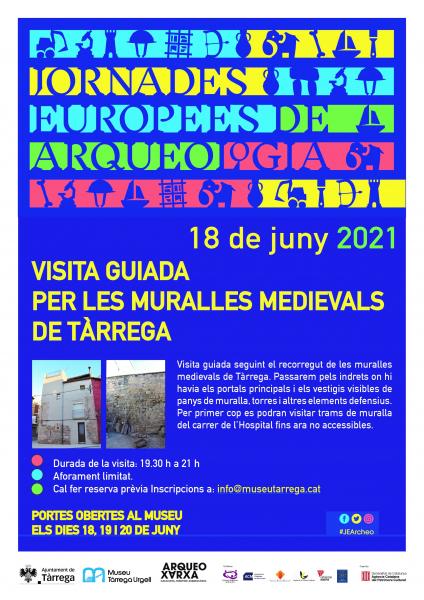 El Museu Tàrrega – Urgell participa en les jornades europees d'arqueologia amb una visita guiada per les muralles medievals