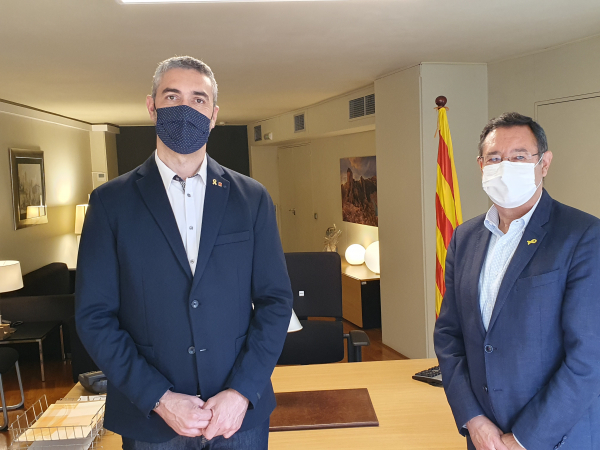 Bernat Solé i Ramon Farré formalitzen el relleu al capdavant de la Delegació del Govern a Lleida