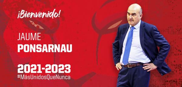 L'entrenador de bàsquet targarí Jaume Ponsarnau fitxa pel Casademont Saragossa