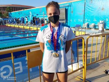 Laia Palomino i Eudalt Tosquella del Club Natació Tàrrega tornen del Campionat de Catalunya Infantil amb dues medalles d'or, sis de plata i tres de bronze