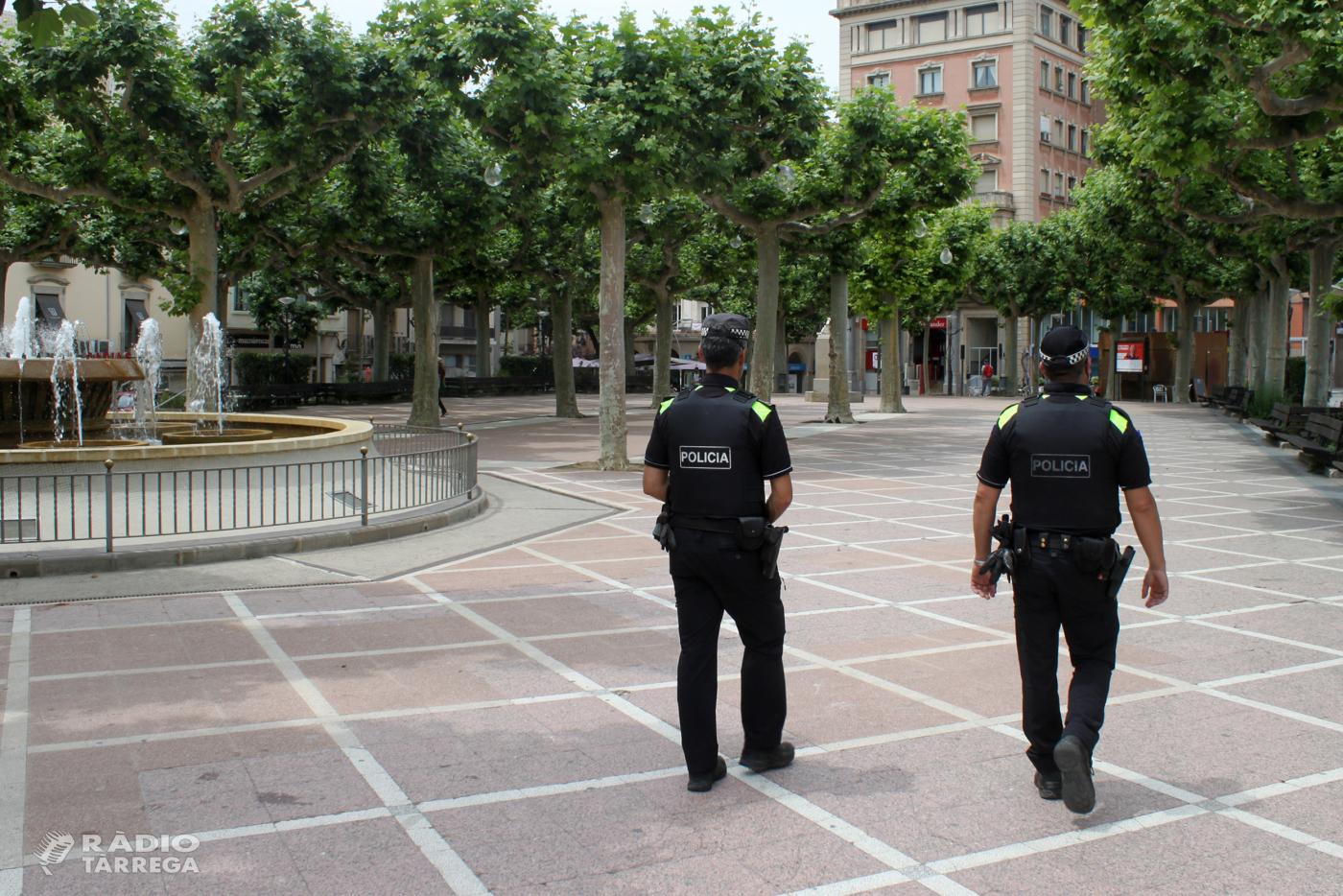 La Policia Local de Tàrrega denuncia dos homes per presumptes delictes de falsedat documental i ús inadequat de targetes per a persones amb discapacitat