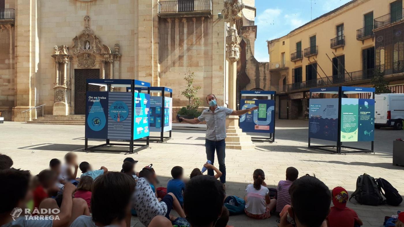 Un centenar de joves aprenen a cuidar l'aigua i el  medi ambient amb l'exposició 'Operació Aigua' a Tàrrega
