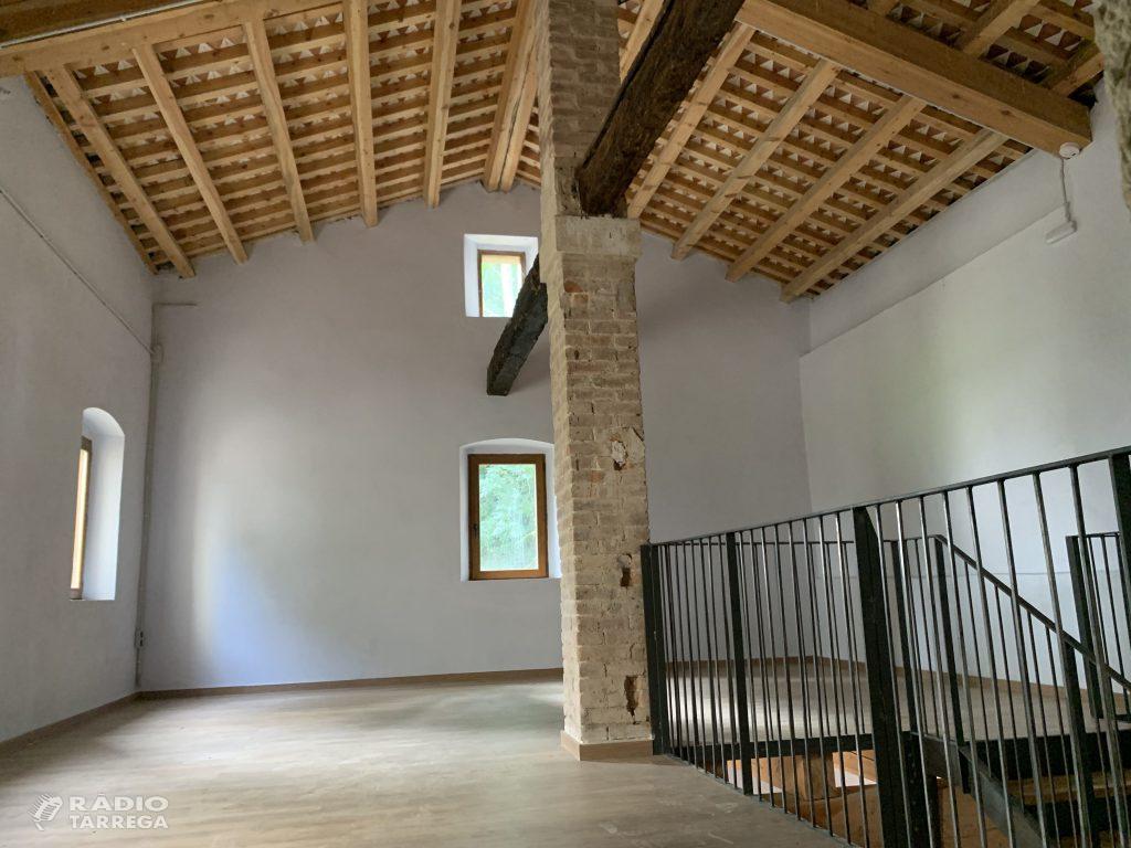 La Diputació de Lleida ha finalitzat la restauració del Molí Vell de Bellpuig, un nou atractiu turístic per la Vall del Corb