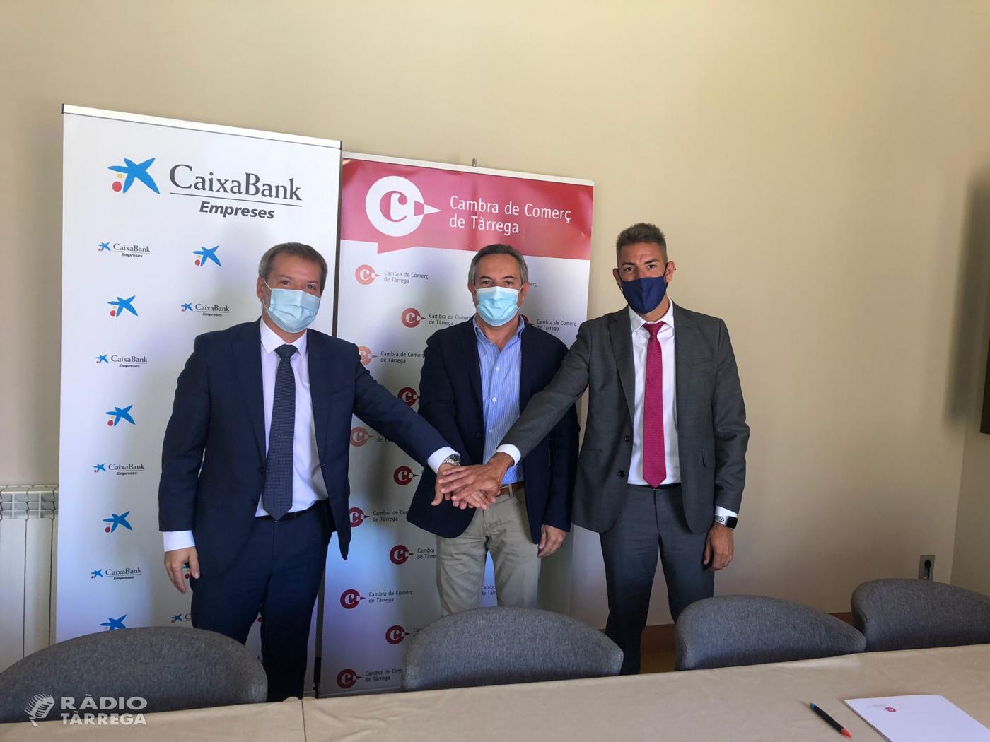 La Cambra de Comerç de Tàrrega i Caixabank, donaran suport a projectes empresarials del pla de Lleida en el marc del pla europeu de recuperació