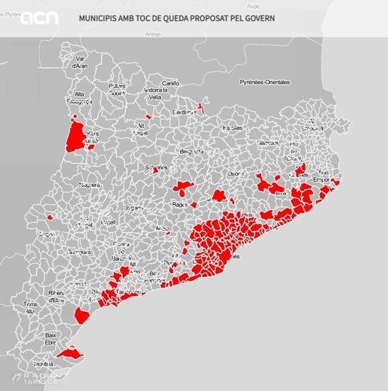 El Govern demana al TSJC que avali un toc de queda de 01.00 a 06.00 h en 158 municipis