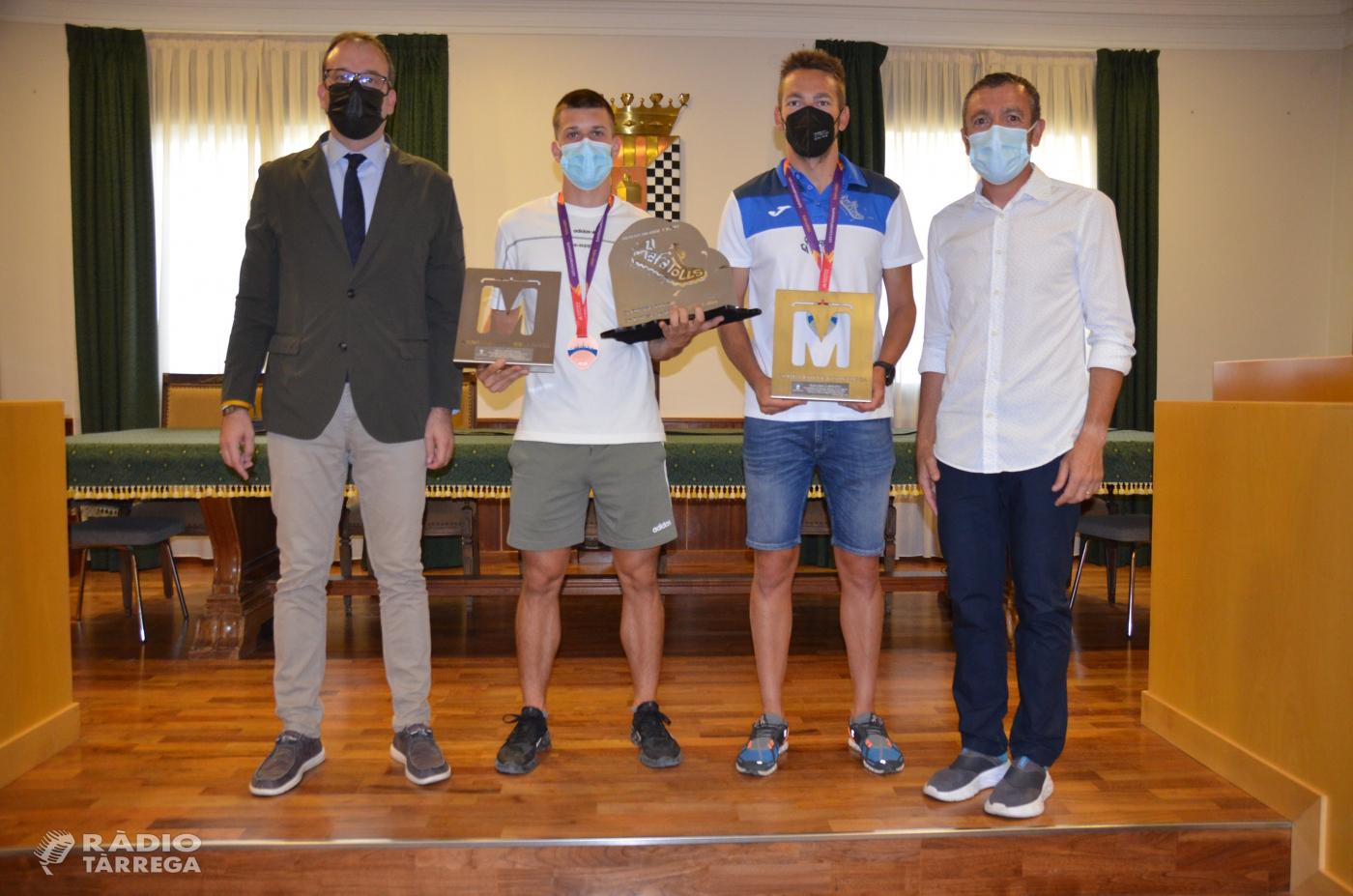 L'Ajuntament de Mollerussa homenatja l'Arnau Monné, atleta targarí format als Xafatolls, per l'èxit als campionats europeus